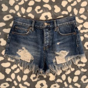 Free People Good Vibrations Cutoffs [denim shorts]